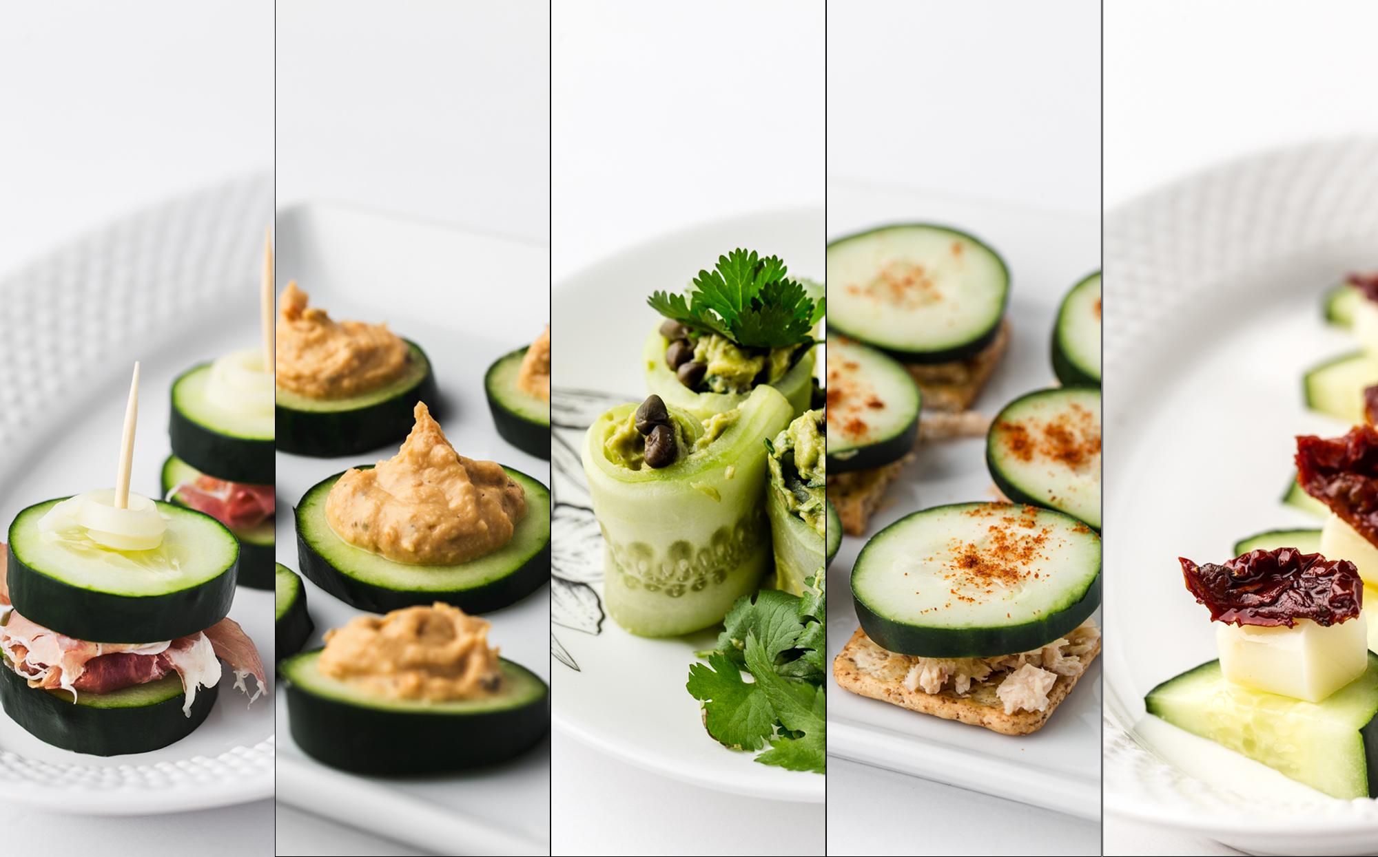 Healthy Snack Recipes; Five Healthy Cucumber Snacks