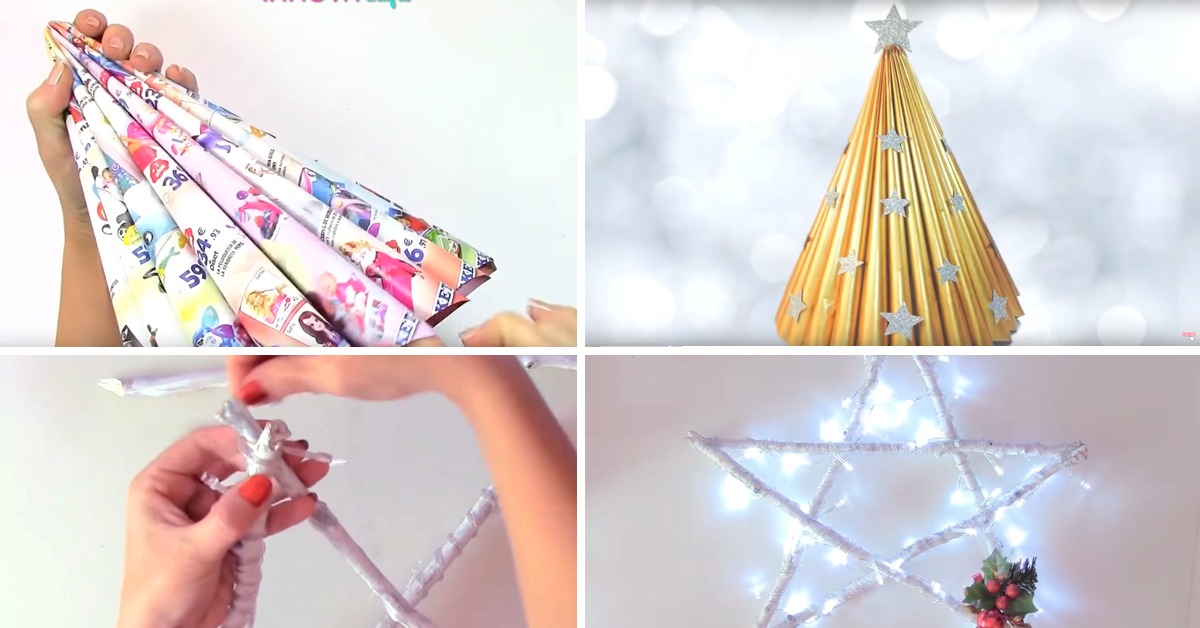 5 Incredibly Beautiful DIY Christmas Recycled Decoration